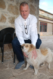 owner with the dog